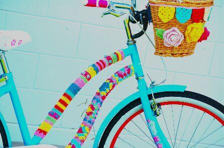 #crochet yarnbomb bike by Greedy for Colour