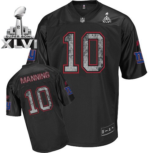 nfl jersey new york giants 10 eli manning sideline black united 2012 super bowl xlvi jersey · desea