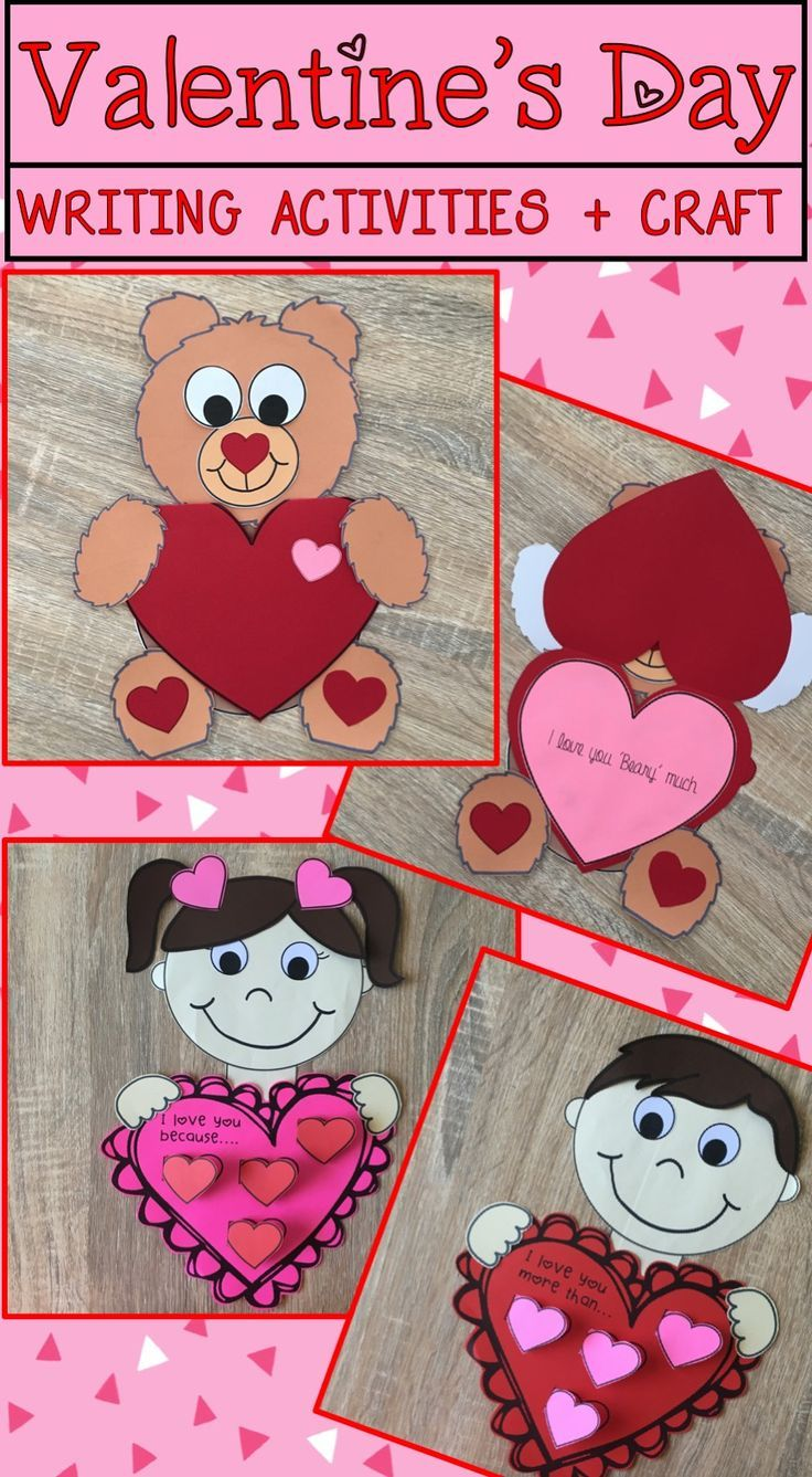 Valentine S Day Writing Activities And Craft Kindergarten Art Activities Craft Activities Kindergarten Activities Valentine day writing activities for