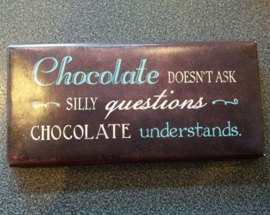 Make it look like a piece of chocolate with the writing drizzled on it in darker chocolate? Or another colour?