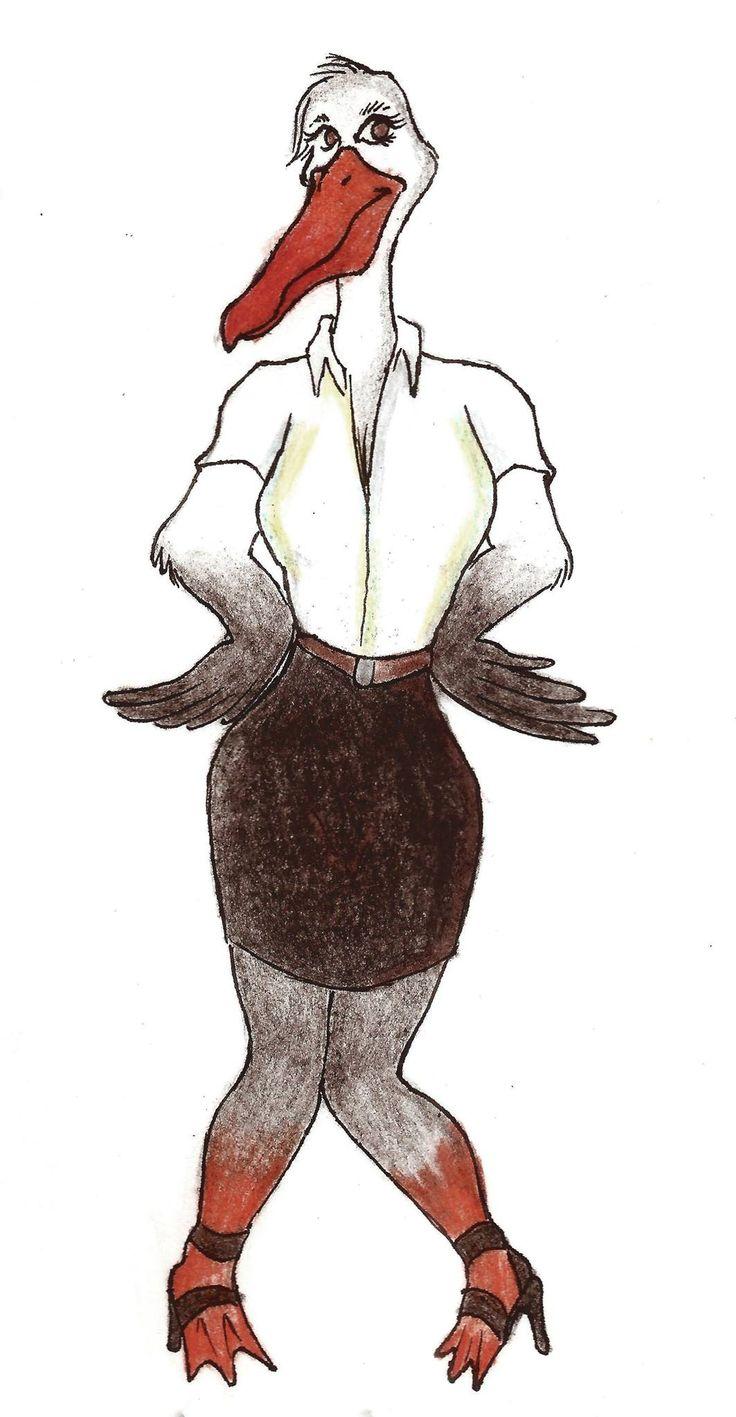 Pelicana ninfomana ginecobstetra realizada par auna clase de publicidad sobre un día en la vida de este personaje