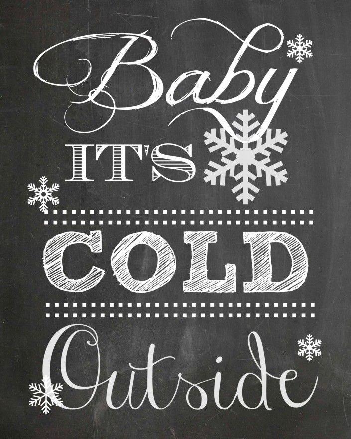 FREE Winter Chalkboard Printable