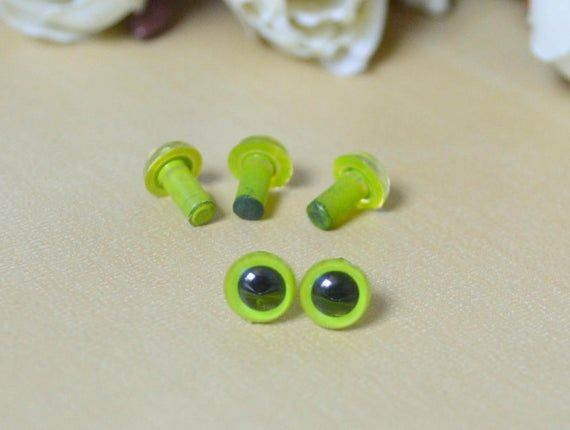 6mm Safety Eyes animal eyes doll parts for amigurumi plush toy ... | 430x570
