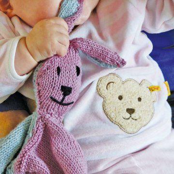 Un doudou lapin en tricot