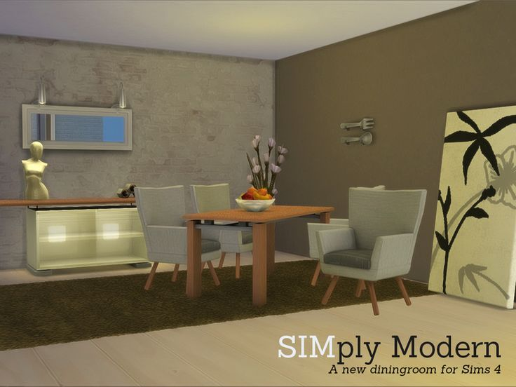 Simply Modern Diningroom Now For Found In TSR Category Sims 4 Dining Room Sets