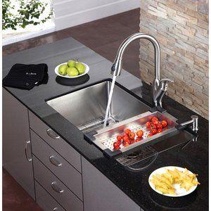 Kraus Stainless Steel 18.5'' Colander for Kitchen Sink