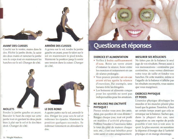Livret exercice physique Weight Wartchers page 7