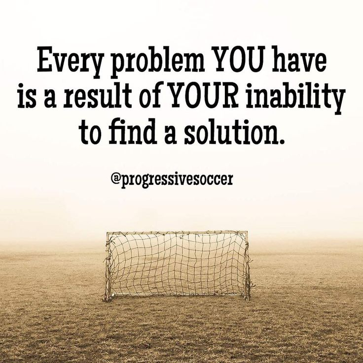 If you want to succeed in soccer (and life) you must understand this concept: you are always the problem. The problem is not your coach your teammates your environment your parents or any other obstacle. The problem is your inability to overcome these obstacles and take responsibility. You cannot change other people. You cannot change your reality. You can only change yourself. What problems do you currently have in soccer (life)? What / who have you blamed in the past for these problems?…