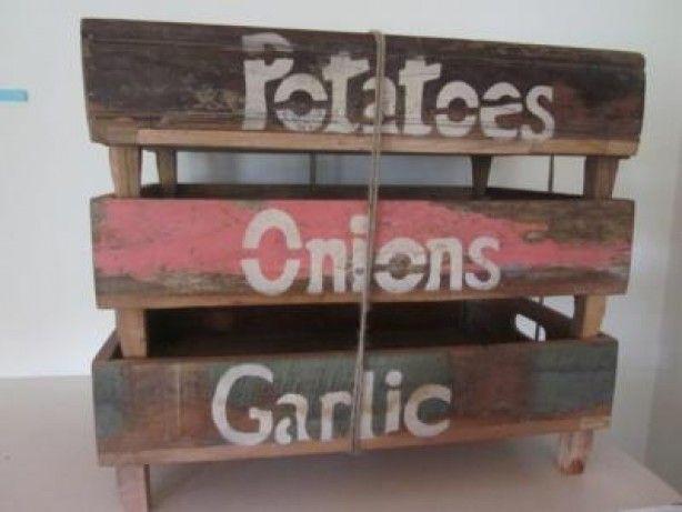kistjes voor in de keuken, misschien leuk om zelf te maken met aardappelkistjes