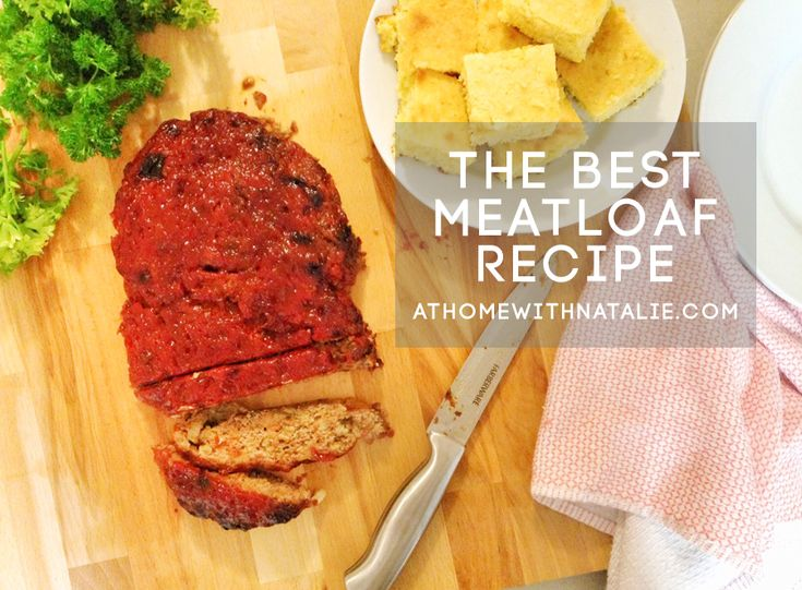 I love meatloaf..but I never really loved how it turned out whenever I would make it. But the other day, I was watching a show on Food Network called The Kitchen, and they shared a meatloaf recipe …