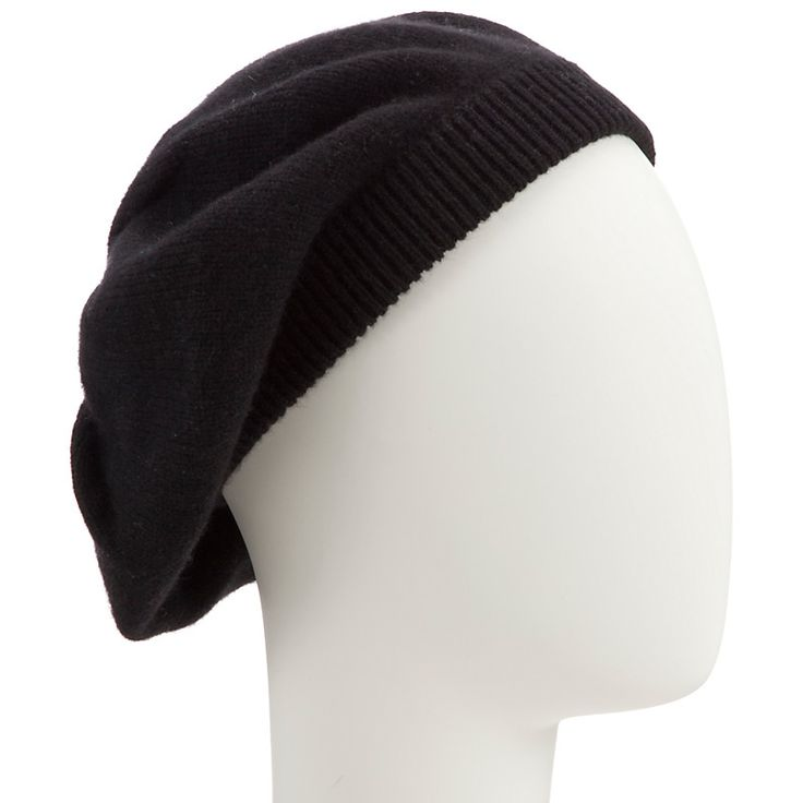 John Lewis Made in Italy Cashmere Beret, Black 100% Cashmere £35
