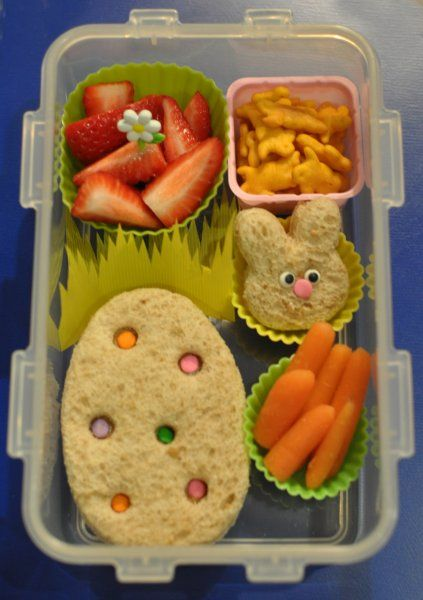Easter lunch idea's for Orion.  Bento Diva