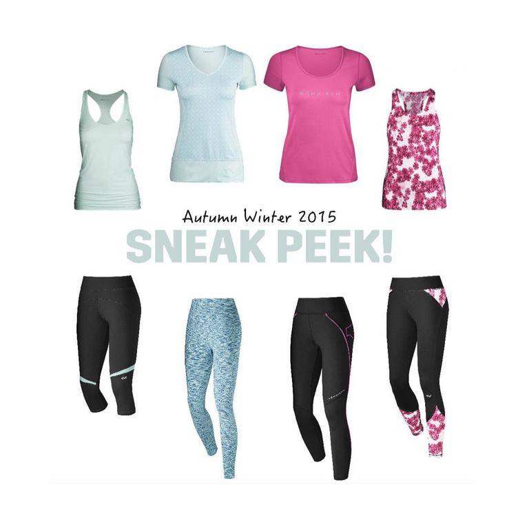Training kolekcia športového oblečenia pre ženy.