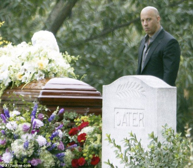 Vin Diesel and Paul Walker film funeral scene on the set of Fast ...