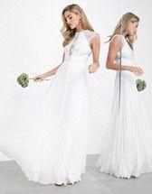 asos edition amalie lace halter neck maxi wedding dress asos