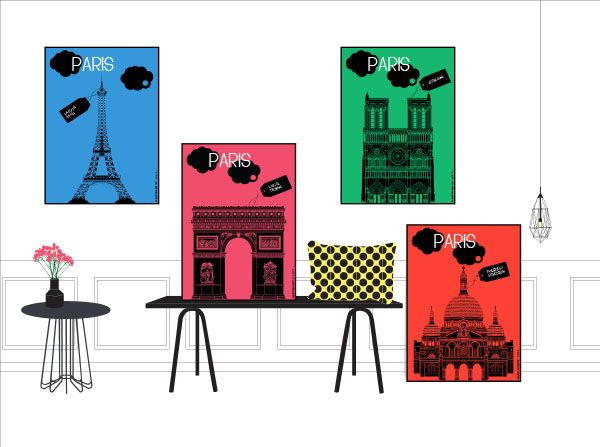 Paris Poster Pop Color