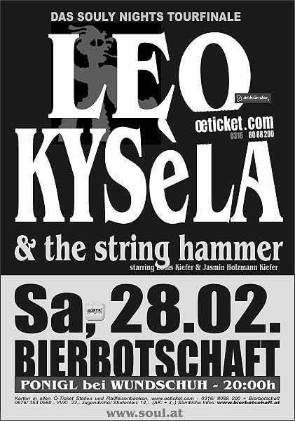 Bierbotschaft – Herzog Bierwirtshaus & Brauerei: LEO KYSèLA and The STRING HAMMER