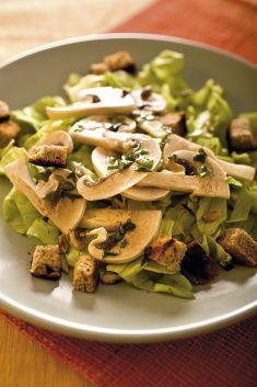 Insalata di funghi marinati con semi di girasole e crostini - Tutte le ricette dalla A alla Z - Cucina Naturale - Ricette, Menu, Diete
