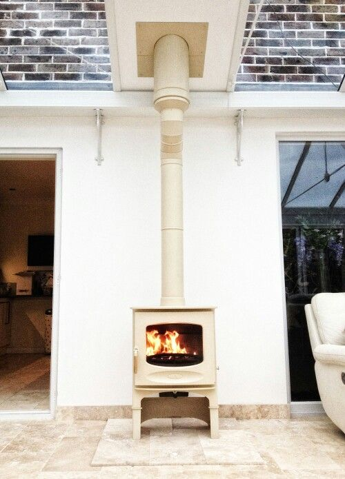 Log burner conservatory