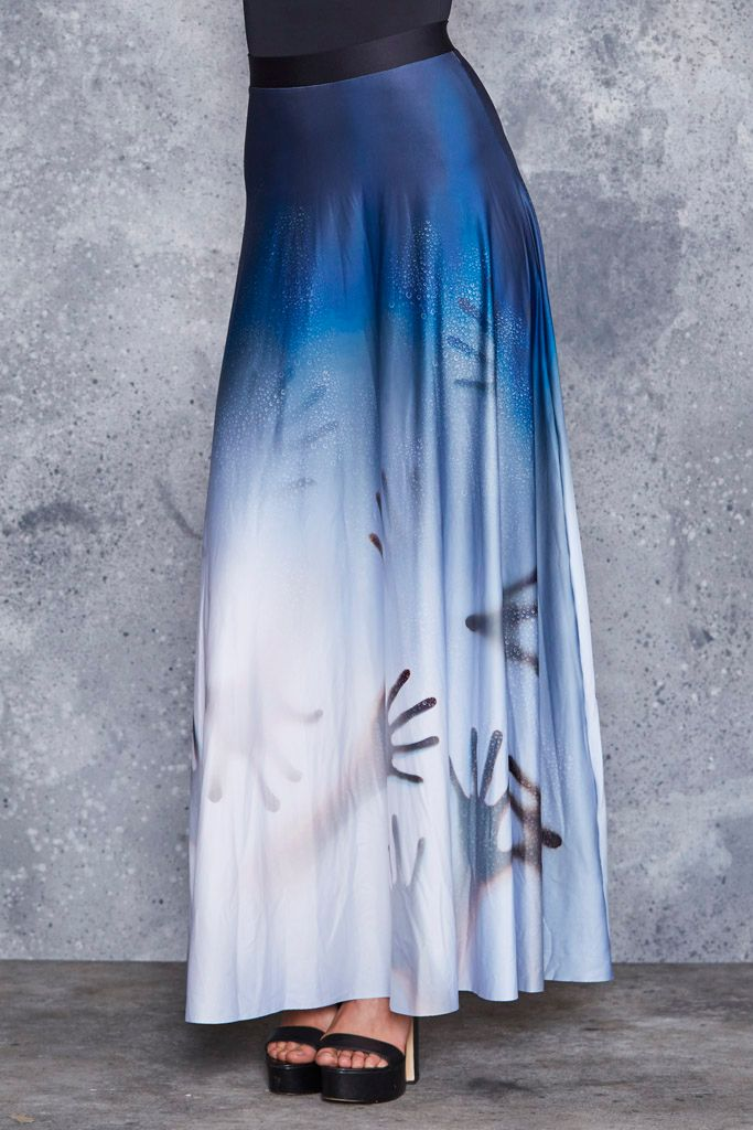 Psycho Maxi Skirt - LIMITED ($120AUD) by BlackMilk Clothing