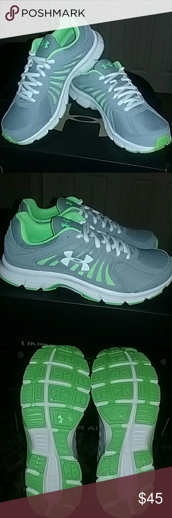 Under Armour Ladies Running Shoes Under Armour Ladies Running Shoes size 8. Super cute never worn in mint condition. Under Armour Shoes Athletic Shoes