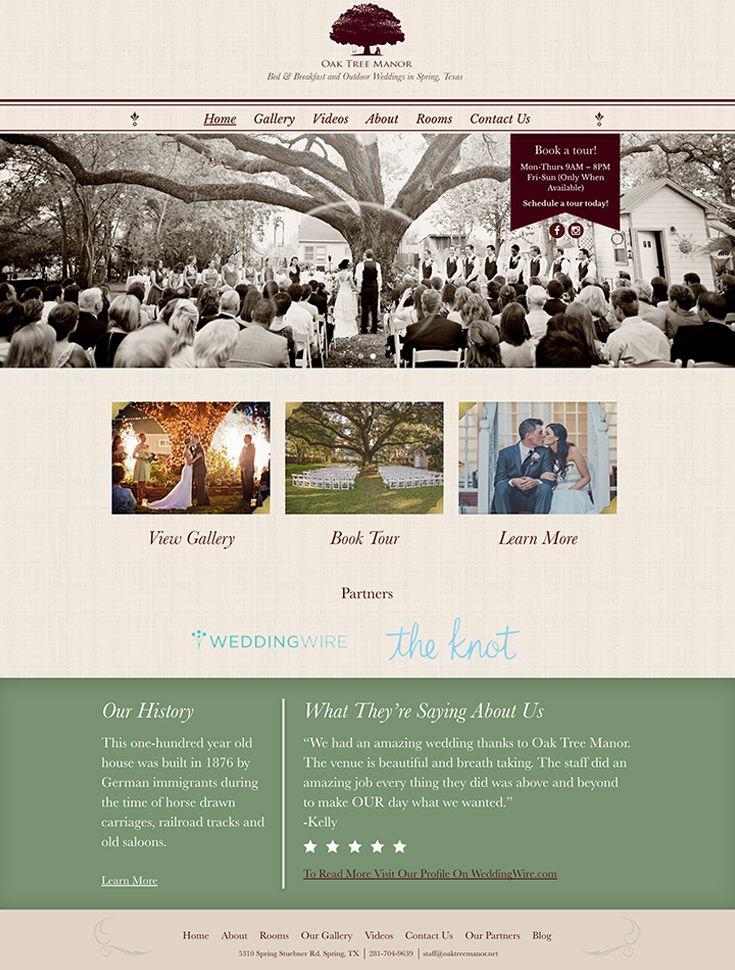 Wedding Venue Website Design #web #design #ux #wedding #venue #wordpress #elegant #weddingvenue