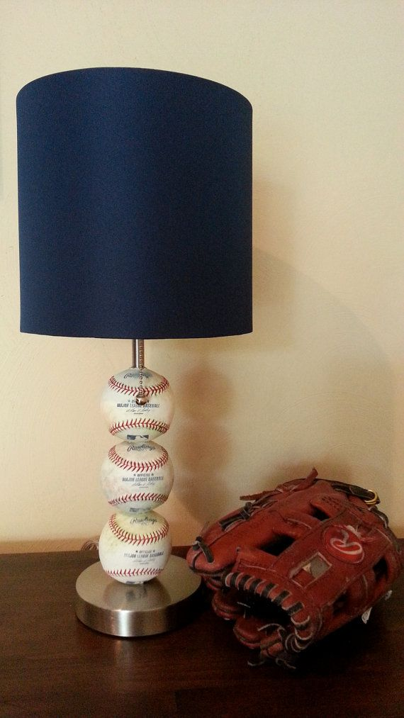 Baseball Themed Table Lamp on Etsy, $59.00