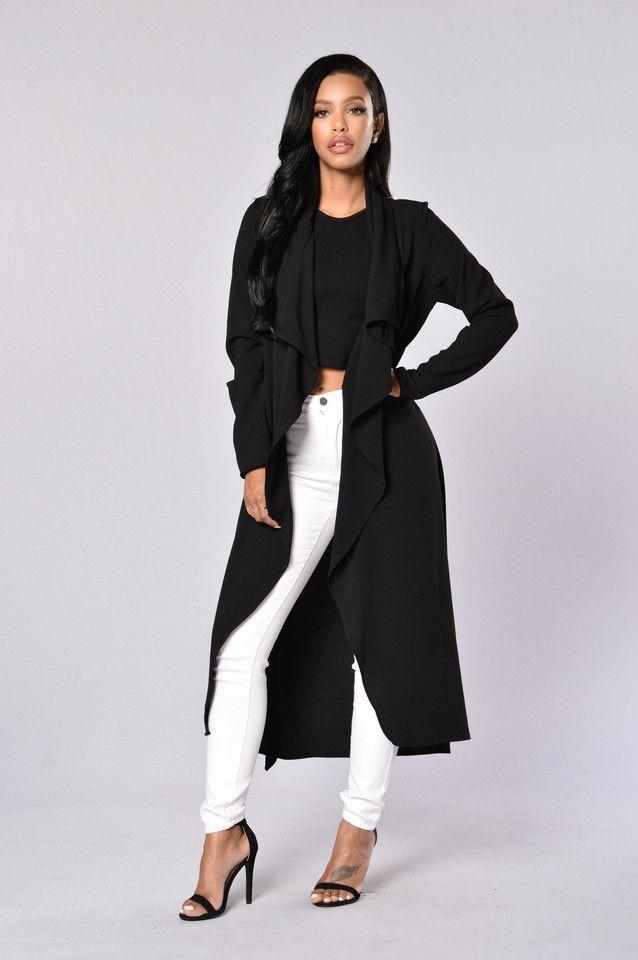 Business Casual Coat - Black