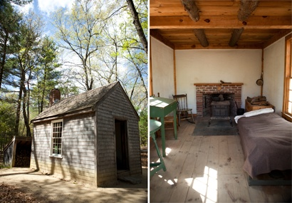 Henry David Thoreau's cabin (replica) on Walden Pond