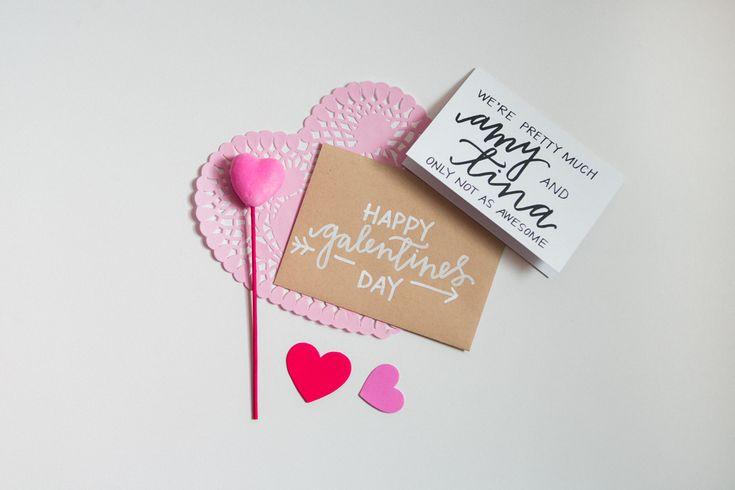 Idée Inspiré: Cartes Jour de main Lettered Valentine