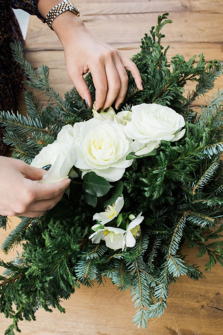 Holiday arrangements wholesale bulk flowers fiftyflowers - A Diy Holiday Floral Arrangement That Is Simple And Easy To Make Using White Flowers