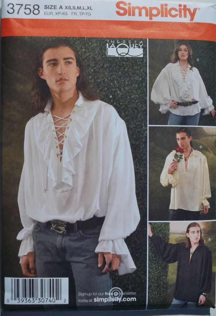 men's renaissance pattern - Will Chase wear it if I make it? Of course, just no ruffles or sniffing random roses.