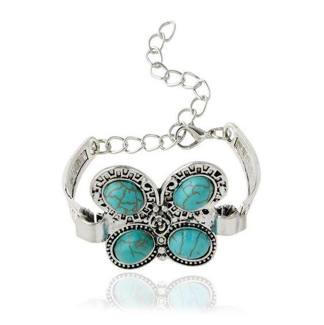 Внешнеторговые модели в Европе имитация Тайский серебро Чешский стиль бабочка ретро Браслет для женщины браслет оптовая