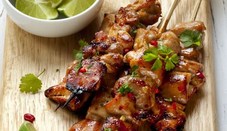 Chicken kebab #recipe. Chicken breasts can be incredible on a braai. This part of the bird dries out quickly, and so needs direct, quick cooking. Use this recipe as a base, then tweak to adjust to your liking.