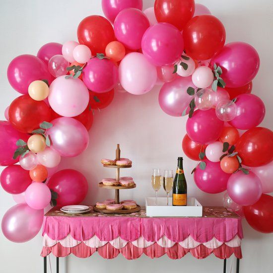 17 best images about diy valentine 39 s day on pinterest for Balloon arch no helium