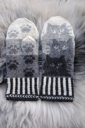 Image result for pattern for cat mittens