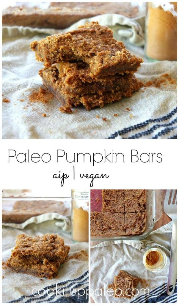 Paleo Pumpkin Bars (AIP, Vegan) | Cook It Up Paleo