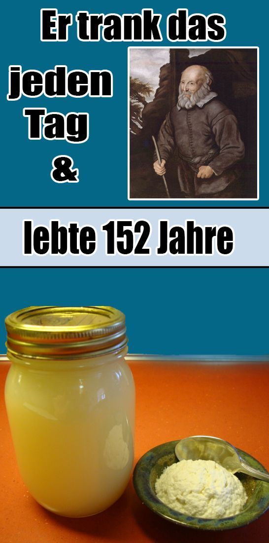 He drank it every day for 152 years … –  Hautpflege-Rezepte