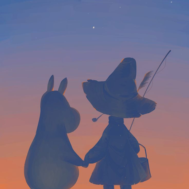 Moomintroll and Snufkin