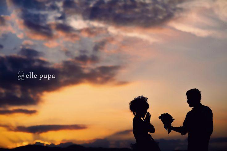 キレイな夕日と*琵琶湖ロケ  *ウェディングフォト elle pupa blog* Ameba (アメーバ)