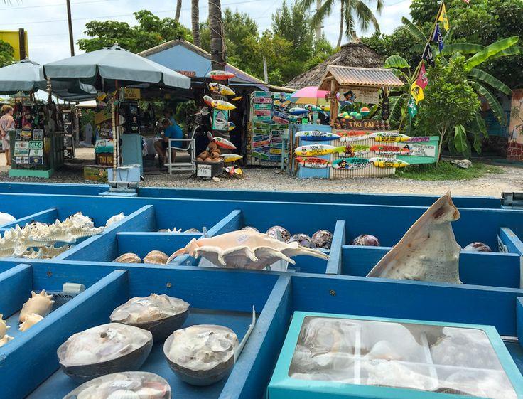 The funky shops at Robbie's Marina in Islamorada, Florida