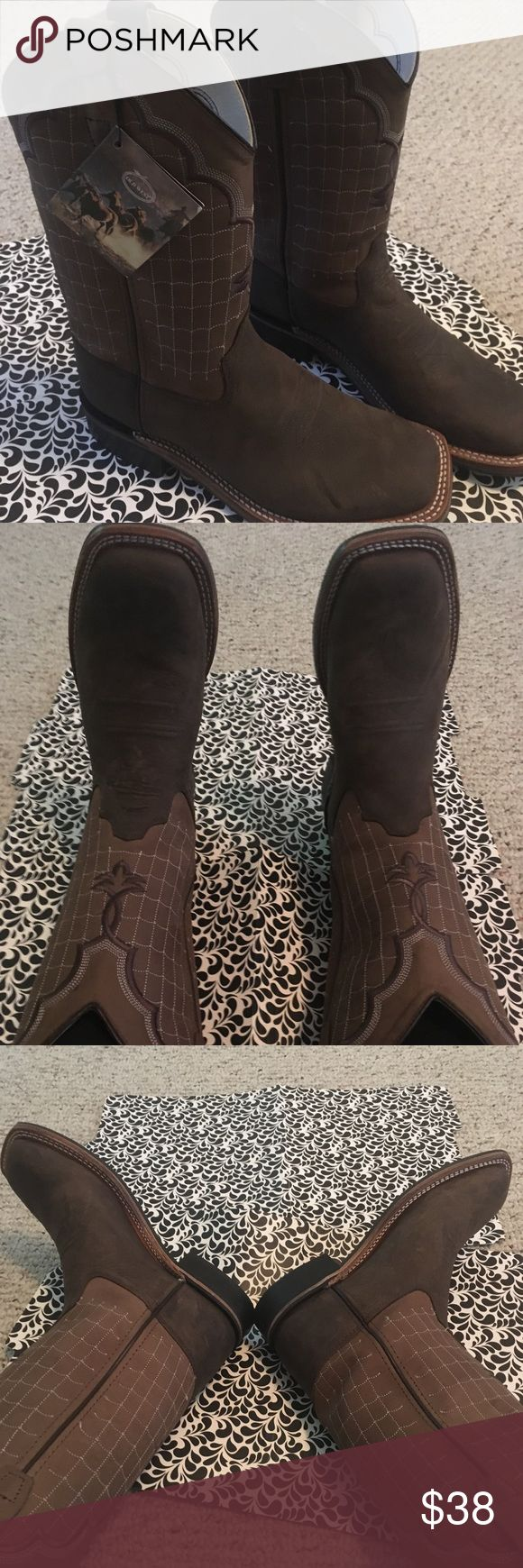 """NWT Old West """"Cowboy Boots"""" Brand new! Very durable. These can be worn unisex. I am a 7.5 and I'm wearing them in the picture. Shoes Boots"""