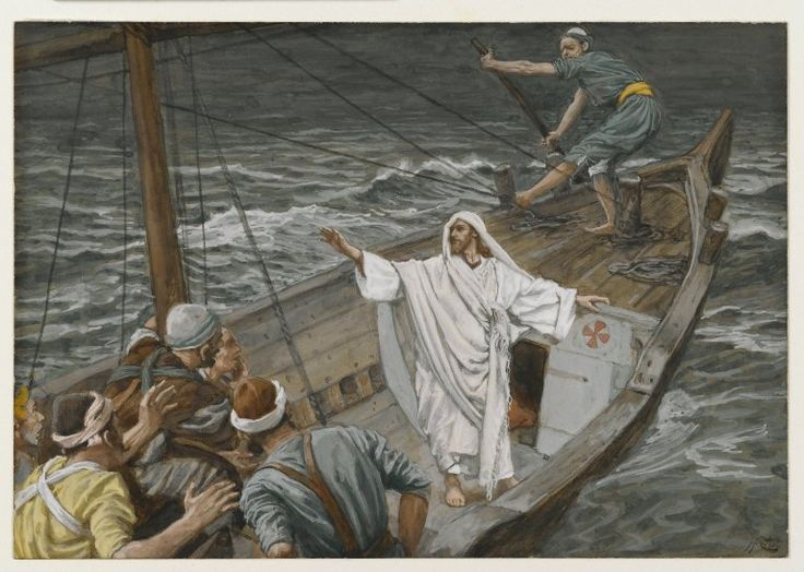 Jesus Stilling the Tempest (Jésus calmant la tempête) : James Tissot : Free Download & Streaming : Internet Archive