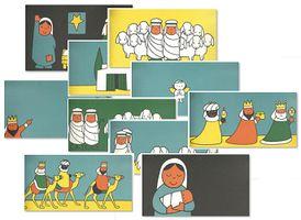 Laat de kinderen met behulp van de illustraties het verhaal in de goede volgorde leggen en navertellen.