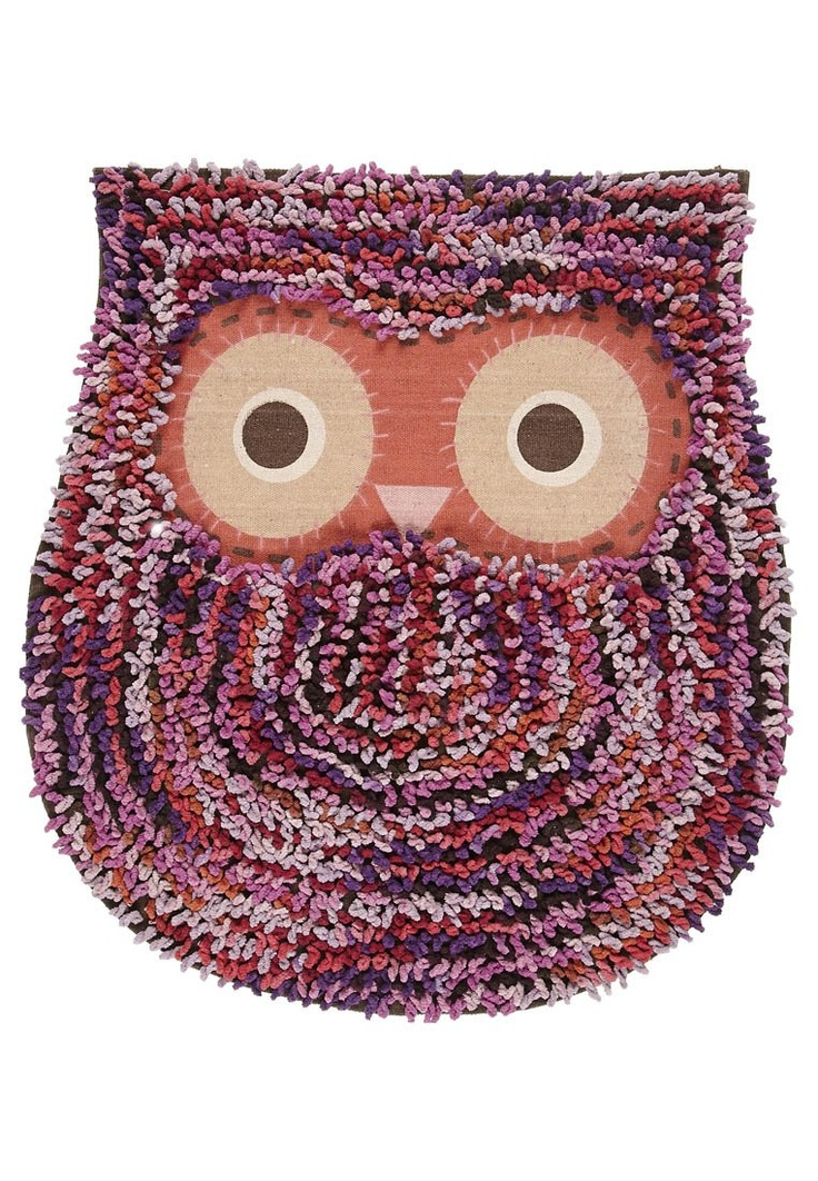 RJB Stone - OWL SHAGGY MAT - Kylpyhuoneen matto - lila