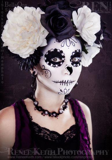 Sugar Skull ~ Makeup & Photography by Renee Keith
