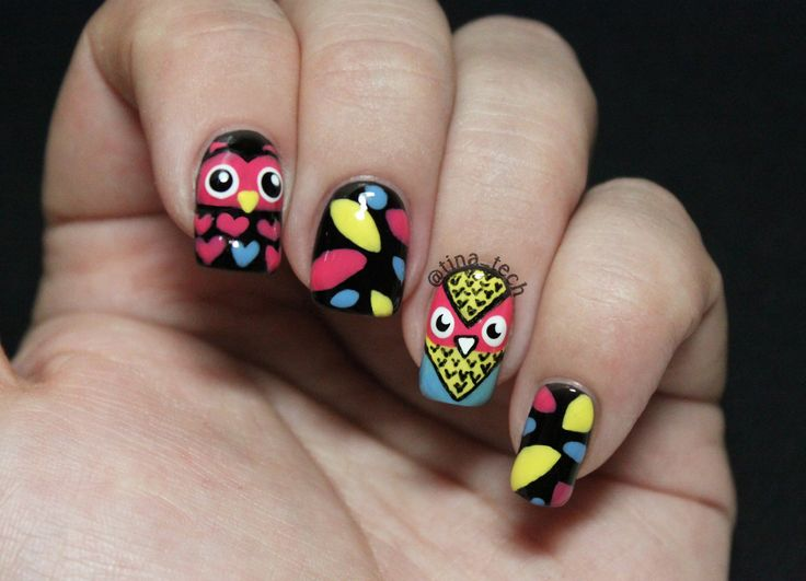 hootHoot owl nail art
