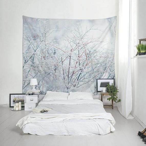 Winter Decor Wall Tapestry Polyester Fabric Lightweight Wall Etsy Wall Tapestry Decor Home Decor