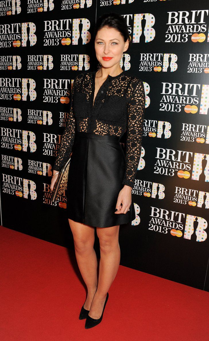 Pin for Later: No Wonder Big Brother's Emma Willis Is the Celeb Mum We All Want to Look Like Emma Willis An LBD got glamorous with the addition of sheer lace when Emma wore this look to the Brit Awards in 2013.