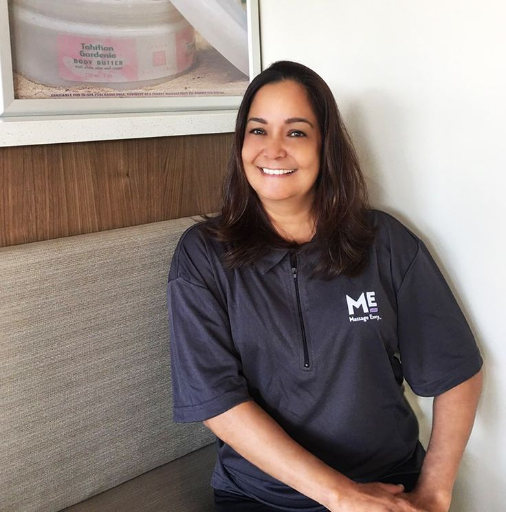 "#featurefriday Employee Feature: Meet Joy, our #Massage #Therapist at our #Kaneohe #MassageEnvy #Hawaii location. #spa Joy loves to go to the beach with her dogs and family on her days off. Her favorite part about working for Massage Envy is ""it's so rewarding to be able to help people feel great or much better when leaving Massage Envy."""